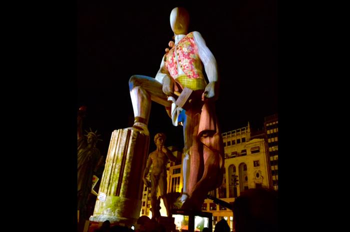 Videomapping 3D en La Falla del Ayuntamiento de Valencia, 2016