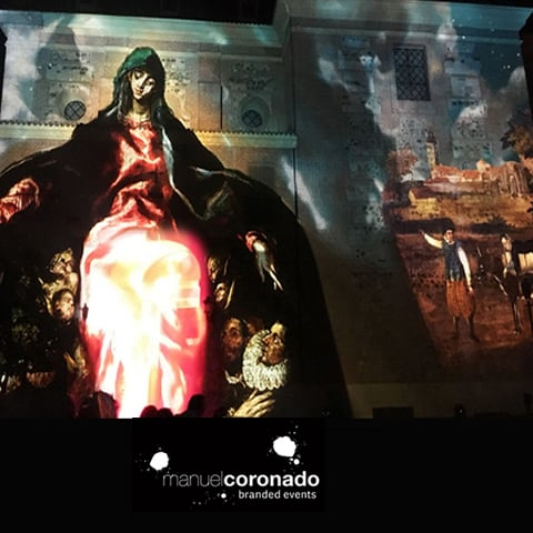 Espectáculo Videomaping 3D Luz Caridad Illescas